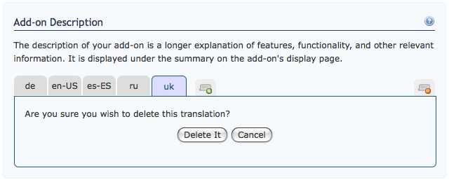Screenshot of new Translation Box Deletion