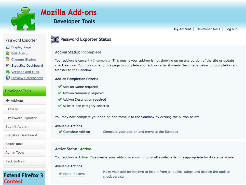 Screenshot of new Incomplete Status Changer