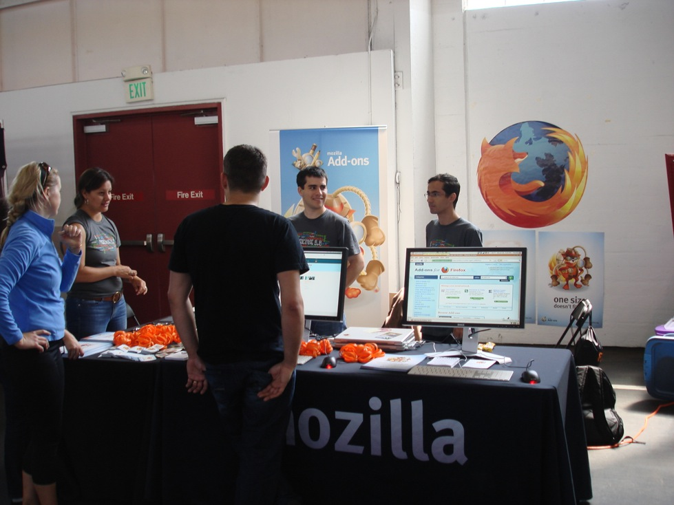 Mozilla booth at Renegade Craft Fair
